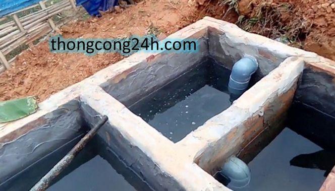 cách đặt ống thoát nước tràn trong hầm cầu tự hoại