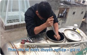 thau rửa bể nước ngầm tại hai bà trưng