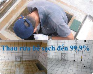 thau rửa bể nước ngầm tại long biên