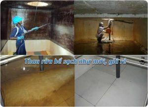 thau rửa bể nước ngầm tại tây hồ