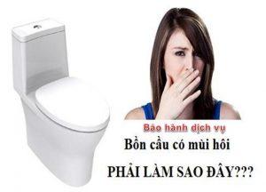 xử lý mùi hôi nhà vệ sinh tại thạch thất